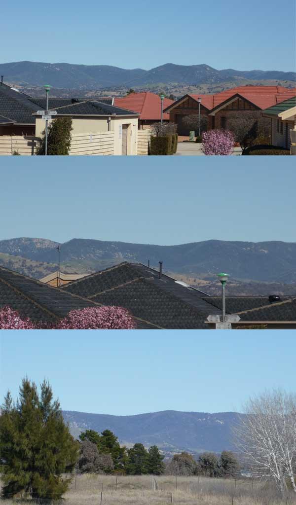 Views of the Brindabellas