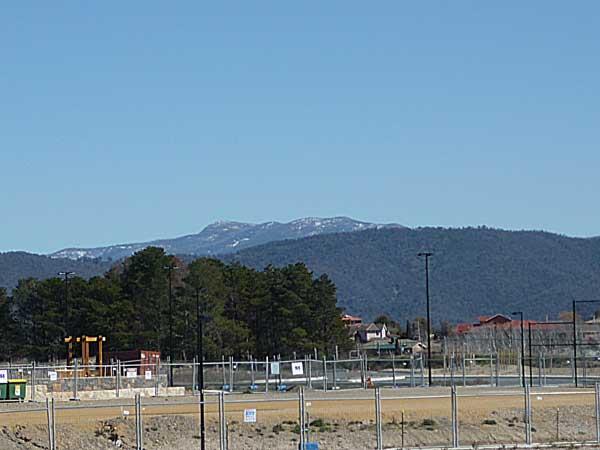 Last glimpse of snow on the Brindabellas