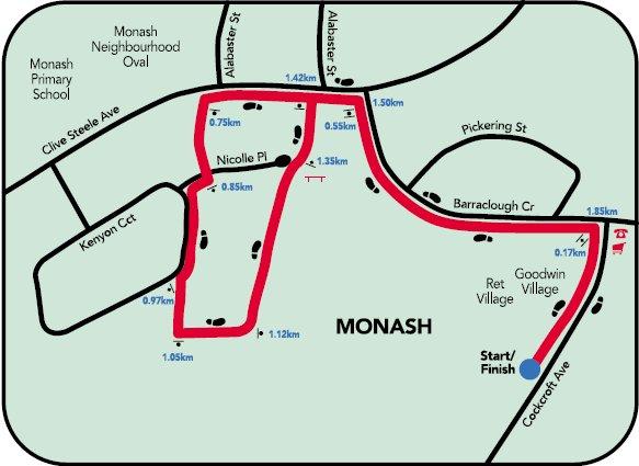 Map of the Monash Community Walk