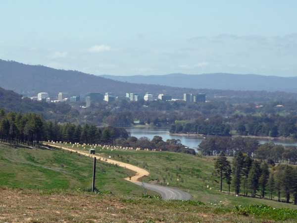 Civic from the National Arboretum, Canberra