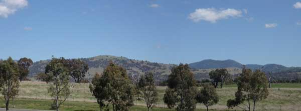 Mountains seen from Gordon