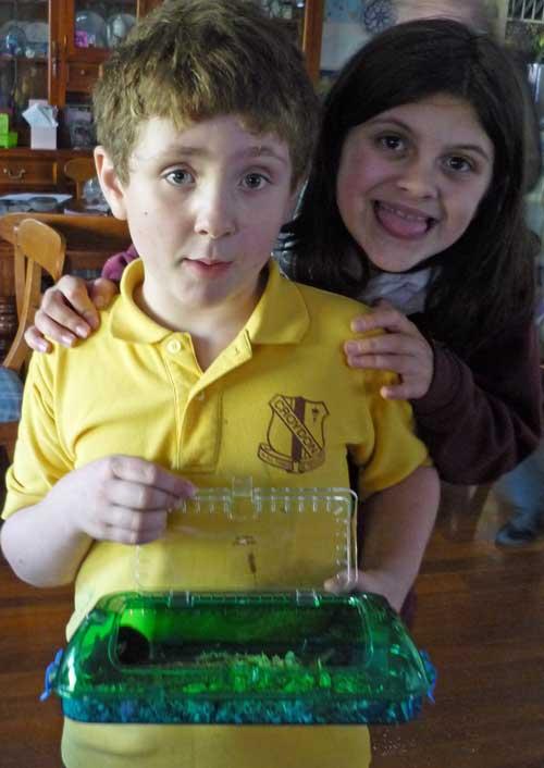 Amy and Daniel with Schmuzzy