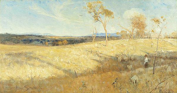 Golden Summer, Eaglemont (1889) by Arthur Streeton
