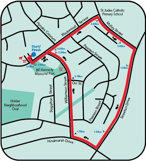 Canberra Community Walks map of Holder