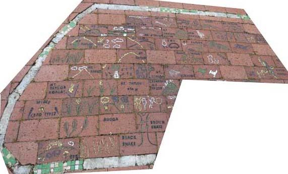 Brick Mural at Tuggeranong Town Park