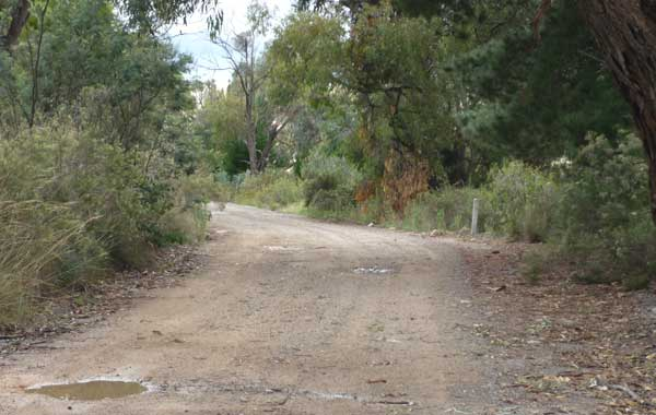 A stretch of the Old Tuggeranong Road
