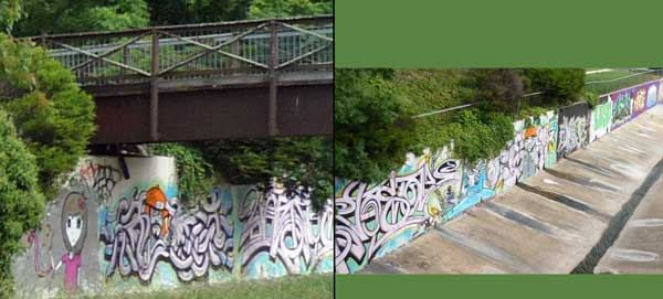 Paintings along Yarralumla Creek at Woden Town Centre