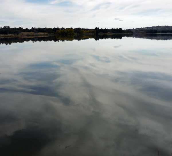 Clouds reflected in Lake Ginninderra