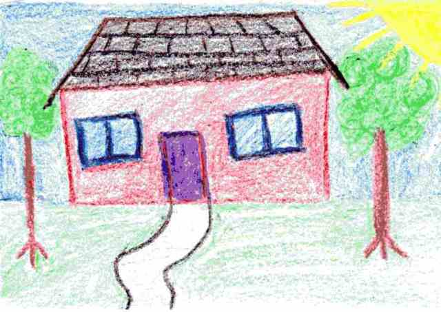 My attempt at a child's drawing of a house