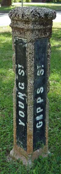 A 1920s street sign