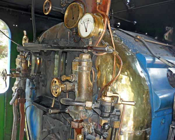 The engine room on the blue train