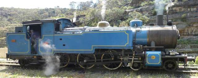 Blue 1951 Steam Engine